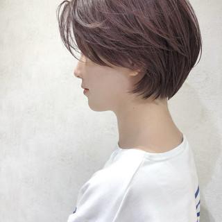 ショート ピンク ストリート ショートヘア ヘアスタイルや髪型の写真・画像