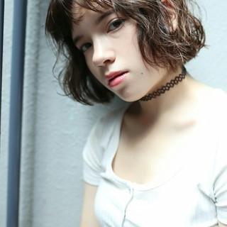 色気 外国人風 パーマ 冬 ヘアスタイルや髪型の写真・画像