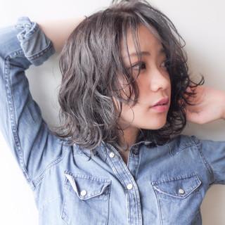 ゆるふわ コンサバ ミディアム エフォートレス ヘアスタイルや髪型の写真・画像