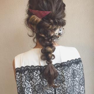 ロング ストリート 波ウェーブ インナーカラー ヘアスタイルや髪型の写真・画像