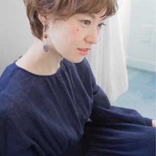 ショート パーマ 外国人風 ショートボブ ヘアスタイルや髪型の写真・画像