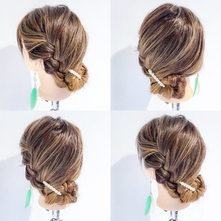 デート ロング アウトドア 簡単ヘアアレンジ ヘアスタイルや髪型の写真・画像
