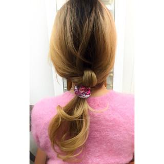 簡単ヘアアレンジ ショート ロング ナチュラル ヘアスタイルや髪型の写真・画像