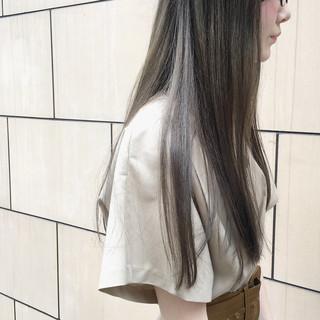 梅雨 外国人風カラー ナチュラル ロング ヘアスタイルや髪型の写真・画像