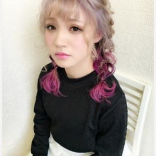 セミロング アンニュイほつれヘア 外国人風カラー 簡単ヘアアレンジ ヘアスタイルや髪型の写真・画像