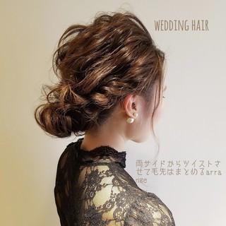 結婚式 ヘアアレンジ セミロング 簡単ヘアアレンジ ヘアスタイルや髪型の写真・画像