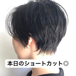 色気 似合わせ ショート 小顔 ヘアスタイルや髪型の写真・画像