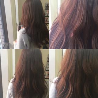 春 暗髪 ロング ストリート ヘアスタイルや髪型の写真・画像