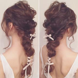 結婚式 ヘアアレンジ 大人女子 ゆるふわ ヘアスタイルや髪型の写真・画像