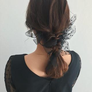 セミロング 大人かわいい デート 結婚式 ヘアスタイルや髪型の写真・画像