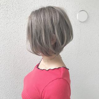 外国人風 ガーリー ショート ハイトーン ヘアスタイルや髪型の写真・画像