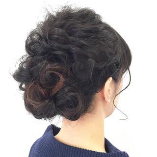 セミロング ヘアアレンジ デート 結婚式 ヘアスタイルや髪型の写真・画像