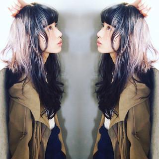外国人風 大人かわいい ロング 黒髪 ヘアスタイルや髪型の写真・画像