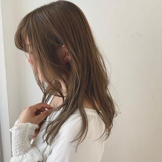 アディクシーカラー アンニュイ セミロング 暗髪 ヘアスタイルや髪型の写真・画像