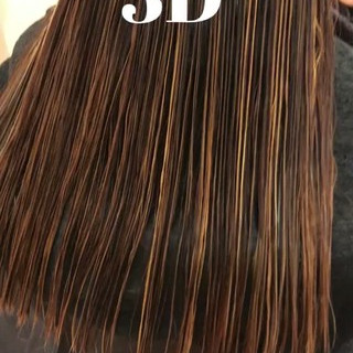 外国人風カラー ハイライト アッシュ ナチュラル ヘアスタイルや髪型の写真・画像