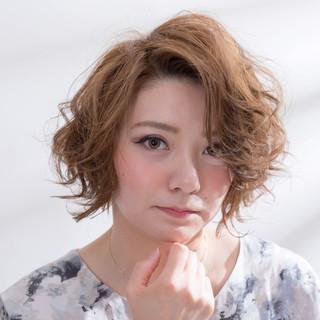 ショートボブ  パーマ ボブヘアー ヘアスタイルや髪型の写真・画像