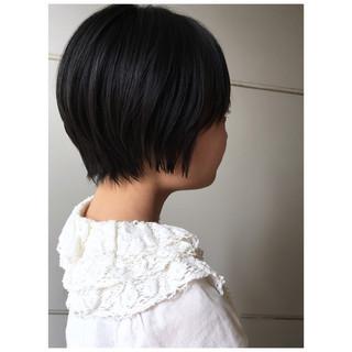 ショートボブ ショートヘア 黒髪ショート ナチュラル ヘアスタイルや髪型の写真・画像