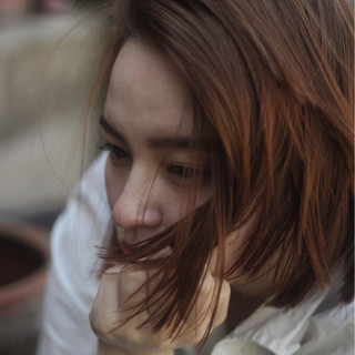 外国人風 ロブ ボブ こなれ感 ヘアスタイルや髪型の写真・画像