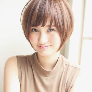 ショート ニュアンス 大人女子 前髪あり ヘアスタイルや髪型の写真・画像