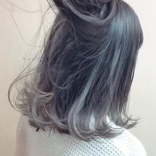 ボブ ガーリー 外ハネ グラデーションカラー ヘアスタイルや髪型の写真・画像