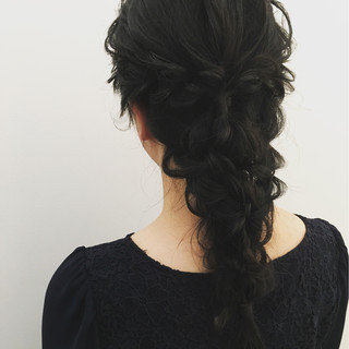 ヘアアレンジ エレガント 上品 編み込み ヘアスタイルや髪型の写真・画像