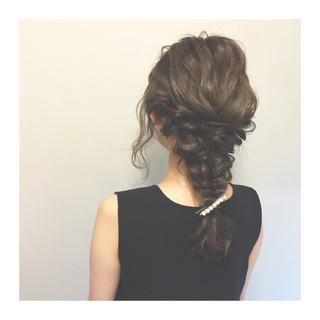 簡単ヘアアレンジ 編み込み ヘアアレンジ ハーフアップ ヘアスタイルや髪型の写真・画像 ヘアスタイルや髪型の写真・画像