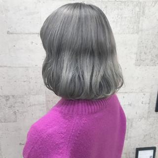 ダブルカラー ボブ ストリート ブリーチ ヘアスタイルや髪型の写真・画像