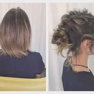 ヘアアレンジ アップスタイル 外国人風 ショート ヘアスタイルや髪型の写真・画像
