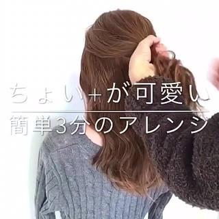 ショート フェミニン ヘアアレンジ デート ヘアスタイルや髪型の写真・画像