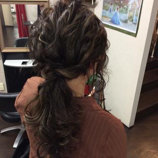 ナチュラル ヘアアレンジ セミロング 簡単ヘアアレンジ ヘアスタイルや髪型の写真・画像 ヘアスタイルや髪型の写真・画像