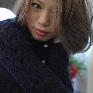 ミディアム 大人女子 かっこいい ナチュラル ヘアスタイルや髪型の写真・画像