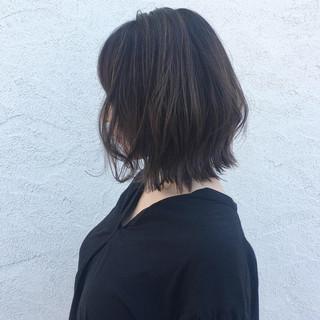 ナチュラル レイヤーボブ ボブ グラデーションカラー ヘアスタイルや髪型の写真・画像
