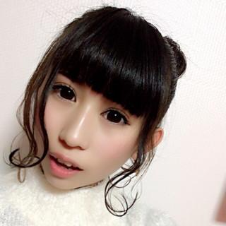 セミロング ヘアアレンジ グラデーションカラー 大人かわいい ヘアスタイルや髪型の写真・画像