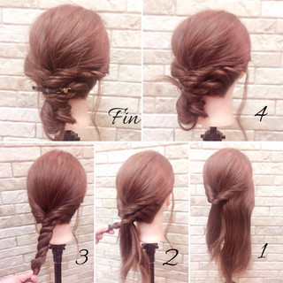 ナチュラル 簡単ヘアアレンジ 大人女子 ミディアム ヘアスタイルや髪型の写真・画像 ヘアスタイルや髪型の写真・画像