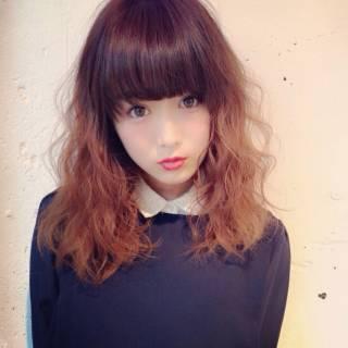 ストリート セミロング 秋 モード ヘアスタイルや髪型の写真・画像