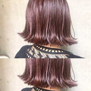 ハイライト アッシュ ボブ モード ヘアスタイルや髪型の写真・画像