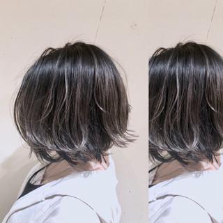 ハイライト ボブ グレージュ 外国人風カラー ヘアスタイルや髪型の写真・画像