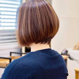 大人かわいい ナチュラル ショートカット ショートボブ ヘアスタイルや髪型の写真・画像