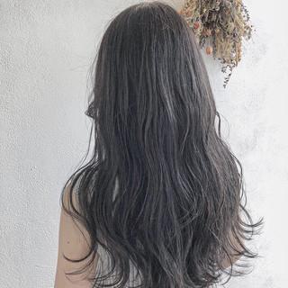 波巻き ロング ナチュラル 外国人風 ヘアスタイルや髪型の写真・画像