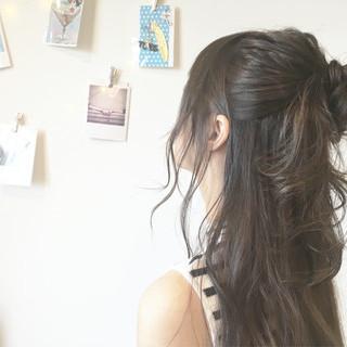 大人かわいい ロング 抜け感 お団子 ヘアスタイルや髪型の写真・画像 ヘアスタイルや髪型の写真・画像
