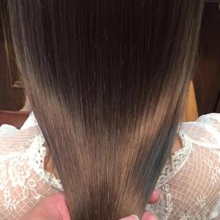 アッシュ 透明感 外国人風 ロング ヘアスタイルや髪型の写真・画像