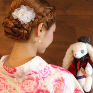 夏 愛され コンサバ 編み込み ヘアスタイルや髪型の写真・画像