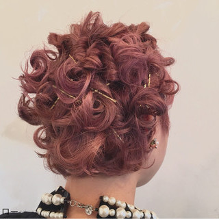 ヘアアクセ ショート ガーリー ヘアアレンジ ヘアスタイルや髪型の写真・画像 ヘアスタイルや髪型の写真・画像