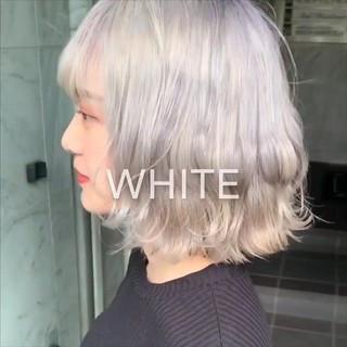 韓国ヘア 外国人風 ミルクティー ストリート ヘアスタイルや髪型の写真・画像
