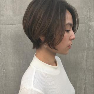 ニュアンス ショート 冬 似合わせ ヘアスタイルや髪型の写真・画像