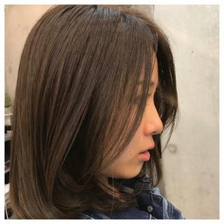 ナチュラル 外国人風カラー イルミナカラー ミディアム ヘアスタイルや髪型の写真・画像 ヘアスタイルや髪型の写真・画像