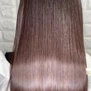 セミロング ヘアアレンジ ナチュラル サイエンスアクア ヘアスタイルや髪型の写真・画像