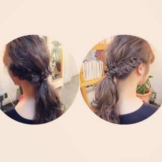 編み込み ショート 簡単ヘアアレンジ ヘアアレンジ ヘアスタイルや髪型の写真・画像