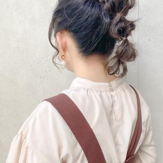 波ウェーブ セミロング ヘアアレンジ 波巻き ヘアスタイルや髪型の写真・画像