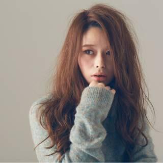 ロング 秋 愛され フェミニン ヘアスタイルや髪型の写真・画像